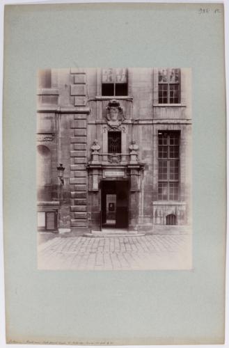 Sorbonne vue de la grande cour porte de la fa ade ouest for Porte de cour