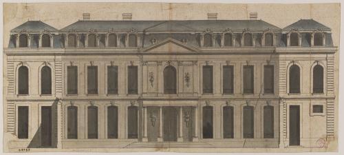 Façade de l'hôtel d'Evreux, Palais de l'Elysée, 55 faubourg Saint-Honoré,  actuel 8ème arrondissement. | Paris Musées