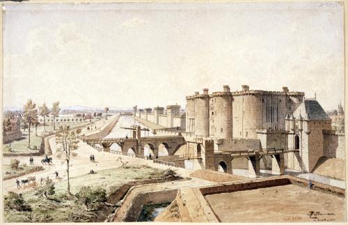 La bastille en 1420 chemin route de vincennes entre la for Porte saint antoine