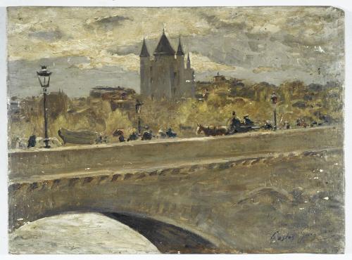 La tour du Temple reconstituée pour l'Exposition de 1889, vue du pont  d'Iéna | Paris Musées