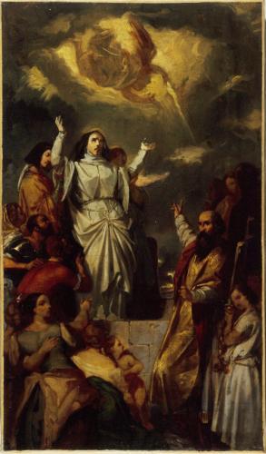 Eugène Devéria (1805-65): Apothéose de Sainte-Geneviève («Den hellige Genovefas opphøyelse»), Musée Carnavalet i Paris