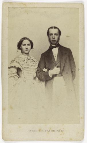 Portrait de Maximilien Ier (1822-1867), empereur du Mexique et frère de l'Empereur  François-Joseph Ier d'Autriche, accompagné de sa femme.   Paris Musées