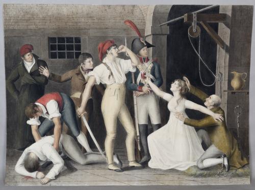 Le dévouement héroïque de Mademoiselle de Sombreuil à la prison de ...