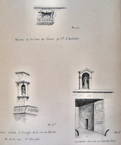 Le Vieux Paris Maison De La Cour LOurs 93 Faubourg Saint Antoine Une Niche Langle Rue Svres Et Placide