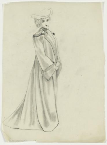 long manteau de profil