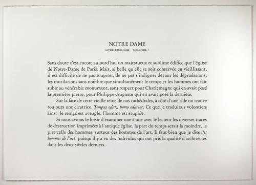 """Première page de texte de l'album """"Sous les ogives"""