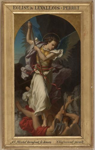 Esquisse Pour L Eglise De Levallois Perret Saint Michel Terrassant Le Demon Paris Musees
